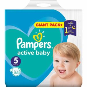 Пелени Pampers Active Baby Giant Pack 5 11-16 кг 64 бр