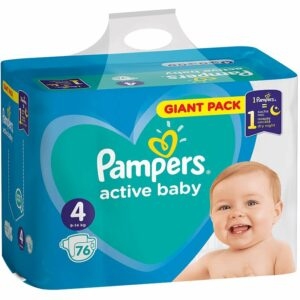 Пелени Pampers Active Baby Giant Pack 4 9-14 кг 76 бр
