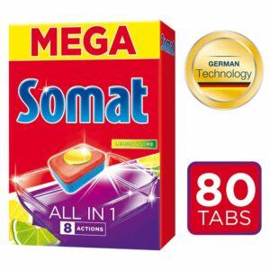 Таблетки за Съдомиялна Mega All in One Somat 80 бр