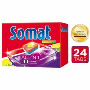 Таблетки за Съдомиялна All in One Somat 24 бр