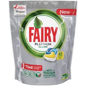 Таблетки за Съдомиялна ALL IN ONE Fairy Platinium 45 бр