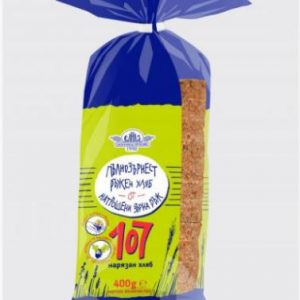 Ръжен Пълнозърнест Хляб 107 Зърна Елиаз 400 гр