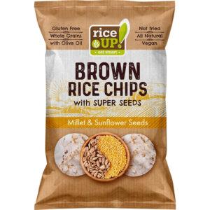 Оризов Чипс Rice Up с Просо и Слънчоглед 60 гр